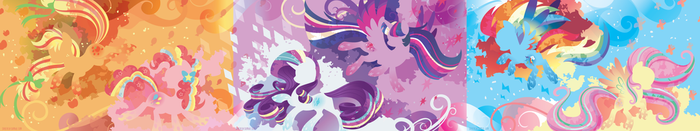 Rainbow Power Silhouette Wall by SambaNeko