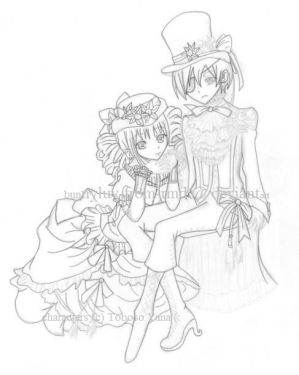 Ciel and Lizzy W.I.P. 2