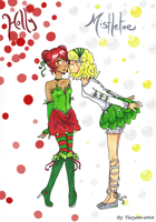 Holly and Mistletoe by yuuyami-artist