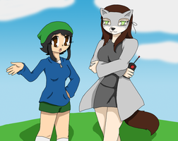 SlyfoxNina and SCPuppyStephanie by Chaos55t
