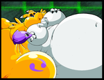Big Blobby Renamon. by Virus-20