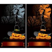 Free vector of Funny pumpkins horror background se by cgvector