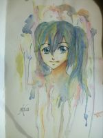 01 watercolor  portrait: Hatsune Miku by Fiefie-14