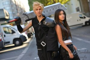 Tifa and Cloud ~ by Chromulee