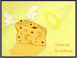 Cheese Goddess post modern by Cheesegoddess