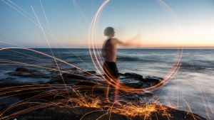 Steel Wool by the sea by lecristoph