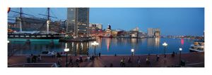 Baltimore at twilight by bamfrussian