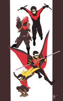 Four Robins by MayhWolf