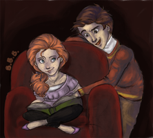 Rose and James coloured by BertieBottBeanie