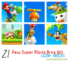 Mario bros Wii icon bases by Kniye