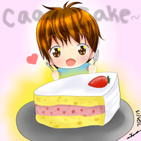Sandeul and Cake - B1A4 Fanart by prettykittygal