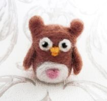 Owlbert the Needle Felted ... Owl! by Charlottejks
