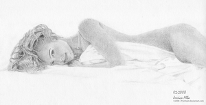 Jessica Alba Bed Drawing by Pwn4g3r