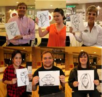 Live Caricatures City Creek Center by DoodleArtStudios