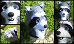 Raccoon Fursuit Head by Alinchen-Tenny