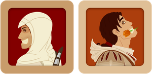 Stickers - Altair and Ezio by Colorousme