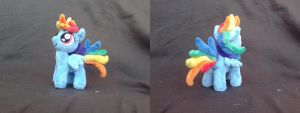 MLP FiM 7 inch handmade plush: Filly Rainbow Dash! by vulpinedesigns