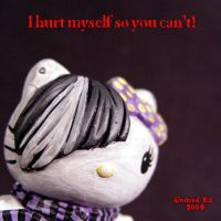 Hello Evil Kitty 6 EMO I HURT by Undead-Art