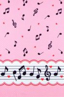 Music notes dots pink by Yvette-chan