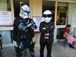 Rex and the Stig Looking Badass by Ghost141