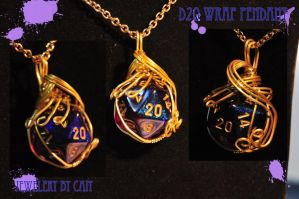 d20 Wrap Pendant by tanyquil