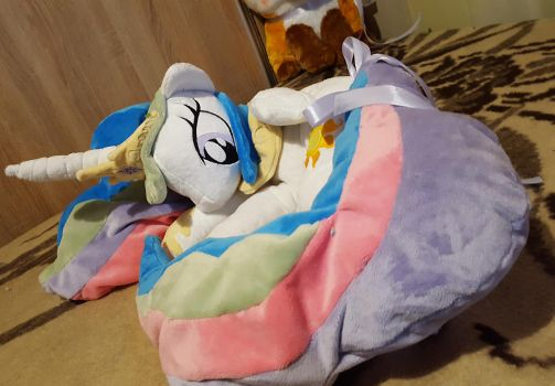 Big princess Celestia plush by zukori