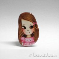 OOAK Girl Brooch by 1anina
