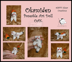 SOLD Okamiden poseable art doll by WolfPink