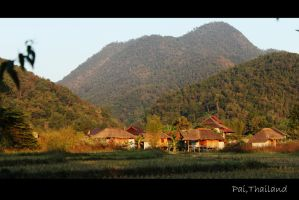 Village in Pai Thailand by DrakeXaos