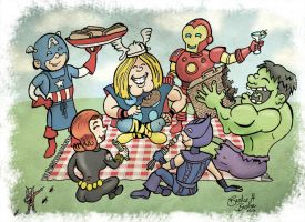 Avengers staff picnic by brodiehbrockie