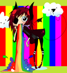 - throwing up rainbows - by capochi