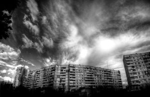 block and sky by KYAV