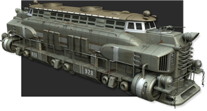 Post apocalyptic locomotive by Attickman