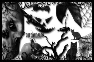 Halloween Brush Set by anodyne-stock