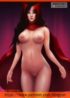 Scarlet Witch Pin up NSFW by NaaN-AnA