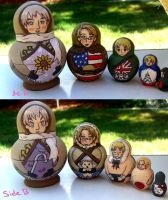 Hetalia Matryoshka Dolls by EvilLemonDemon