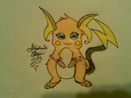 Raichu Drawing by Miku-chan9