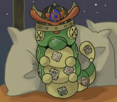 Poketown-Caterpie Gigante Vikingo by Mikoto-chan