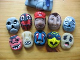 Happy Mask Salesman's Masks by Awasai