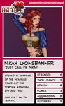 Nikah Trading Card by CharSol
