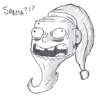 Creepy Santa by Vangar