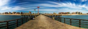 Coney Island Panorama by eriksa