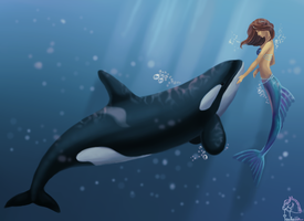 Underwater friendship by IsabellaSG