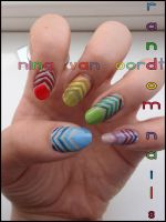 Random nails by JawsOfKita-LoveHim