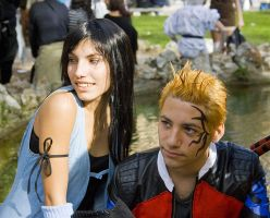 Zell and Rinoa by Sommum