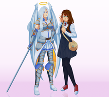 Comm: Eleanor and Lyria by Miss-Sheepy