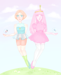 Pearl and Princess Bubblegum by Mannylinn