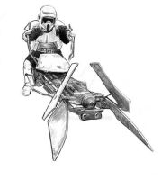 Scout on Speeder Bike by jasonpal
