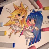 Chibi Angels (Panty and Stocking Fanart) by NauticaWilliams