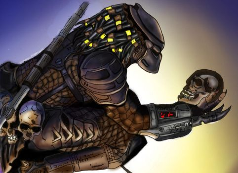 Thrill of the Hunt Coloured by predator-fan